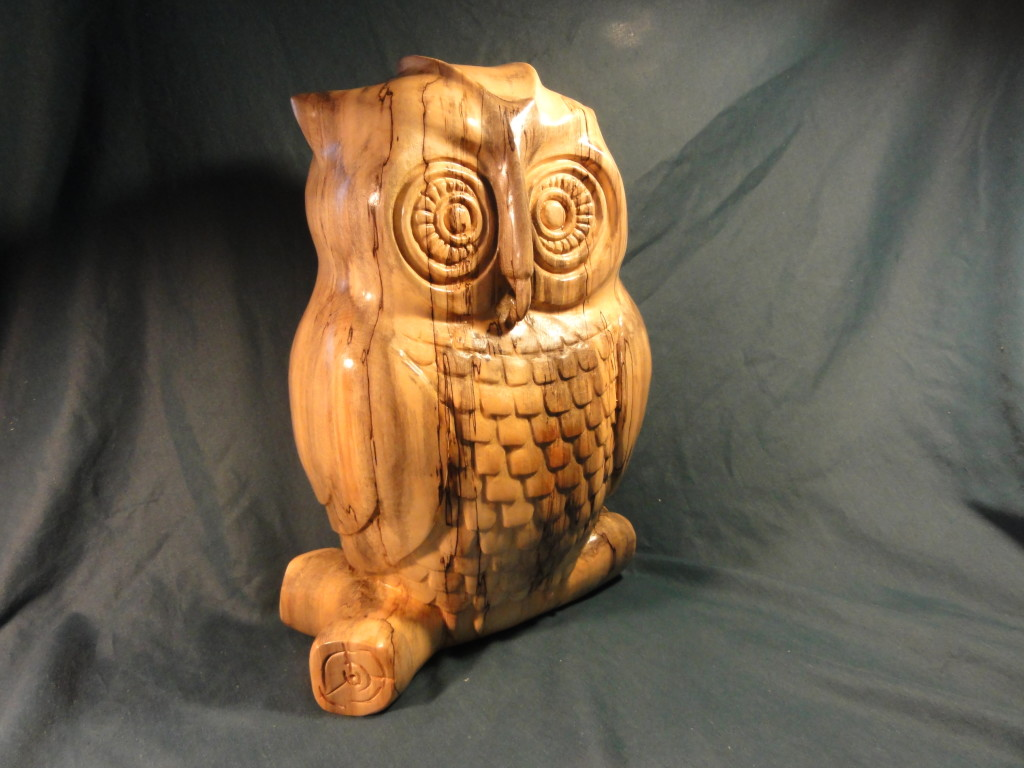 DON PUENT'S CARVED OWL.